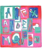 Alexander McQueen Letter Logo Print Silk Chiffon Scarf - Lyst