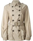 Burberry Brit Belted Trench Coat - Lyst