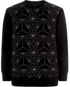 Neil Barrett Geometric Neoprene Sweater - Lyst