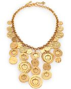 Oscar de la Renta Circle Bib Necklace - Lyst