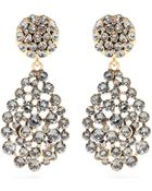 Oscar de la Renta Crystal-Embellished Clip-On Earrigns - Lyst
