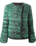 Moncler Gamme Rouge Crocodile-Print Quilted Jacket - Lyst