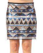 Fairly Mini Skirt - Lyst