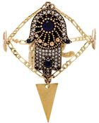Vanessa Mooney Hand Of Fatima Crystal Diamond Bracelet - Lyst