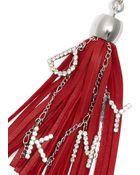DKNY Leather Tassel Charm - Lyst