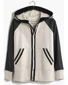 Madewell Leather-Sleeve Tournament Jacket - Lyst