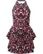 McQ by Alexander McQueen Leopard Print Peplum Dress - Lyst
