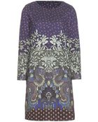 Etro Printed Jersey Dress - Lyst