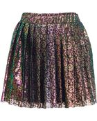House of Holland Iridescent Lace Kilt - Lyst