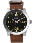 Nixon Corporal Black And Brown Watch - Lyst