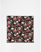 Reclaimed (vintage) Floral Pocket Square - Lyst