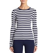 Michael Kors Striped Crewneck Pullover - Lyst