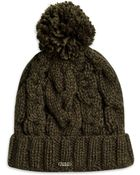 BOSS Orange Fosane  | Wool-Blend Cable Knit Hat - Lyst