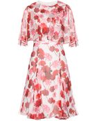 Giambattista Valli Floral-Printed Silk Dress - Lyst