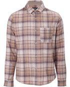 A.P.C. Plaid Wool Button-Down - Lyst