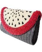 Sarah's Bag Curve Dragon Fruit Clutch - Lyst