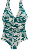 J.Crew D-Cup Tropical Fern Ruched Femme One-Piece Swimsuit - Lyst