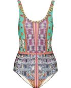 Clover Canyon Printed Swimsuit - Lyst