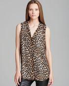 Equipment Top - Keira Underground Leopard Print Sleeveless - Lyst