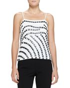 Armani Square-Embellished Camisole Top - Lyst
