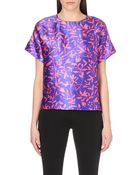 Peter Pilotto Printed Silk-Satin Top - Lyst