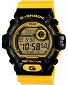 G-Shock Men'S Digital Yellow Resin Strap Watch 53X55Mm G8900Sc-1Y - Lyst
