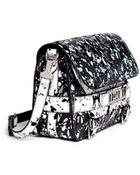 Proenza Schouler 'Ps11' Velvet Flock Classic Shoulder Bag - Lyst