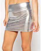 American Apparel Metallic Late Night Mini Skirt - Lyst