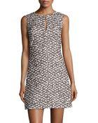 Diane von Furstenberg Yvette Tweed Sleeveless Dress - Lyst
