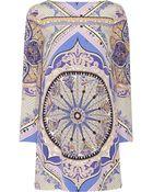 Emilio Pucci Printed Silk-Crepe Dress - Lyst