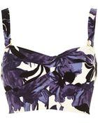 River Island Purple Floral Print Bralet - Lyst