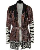 Etro Silk-Cashmere Belted Cardigan - Lyst