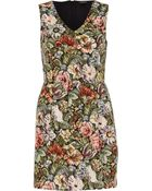 River Island Green Tapestry Shift Dress - Lyst