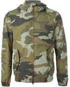 Woolrich Hooded Camouflage Print Jacket - Lyst