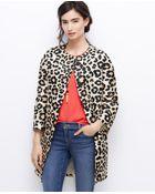Ann Taylor Petite Spring Leopard Coat - Lyst