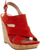 Dolce Vita Tawnie Leather Slingback Wedge Sandals - Lyst