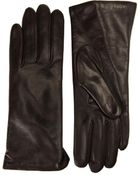 Portolano Leather & Cashmere-Lined Gloves - Lyst