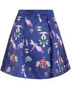 Mary Katrantzou Calculon Symbol Print Skirt - Lyst