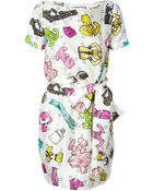 Moschino Paper Doll Accessories-Print Dress - Lyst