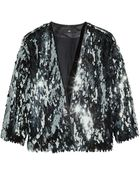 H&M Sequined Jacket - Lyst