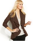Inc International Concepts Ruffled Open-Front Cardigan - Lyst