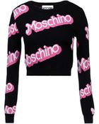 Moschino Long Sleeve Jumper - Lyst