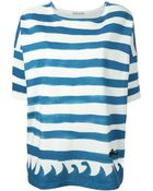 Tsumori Chisato Stripes And Wave Print T-Shirt - Lyst