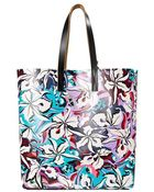 Marni Exotic Floral Print Shopper Tote - Lyst