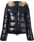 Duvetica Fox Fur Trim Padded Jacket - Lyst