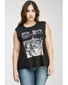 Forever 21 New York Muscle Tee - Lyst