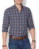 Ralph Lauren Polo Plaid Oxford Shirt - Lyst