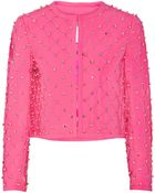 Moschino Embellished Quilted Crepe Jacket - Lyst