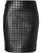 Akris Stretch Leather Mini-Skirt - Lyst