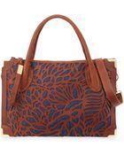 Foley + Corinna Botanica Cutout Leather Satchel Bag - Lyst